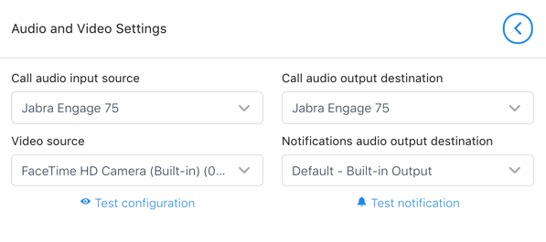Configure using Jabra as media device